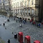 view up Royal Mile from window