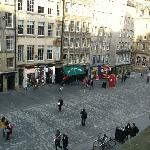 view down Royal Mile from apartments