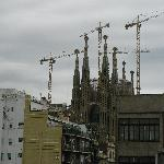 vista de la Sagrada Familia desde Balcón