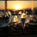 Teras kat restauranttan Günbatımı