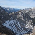 erster Blick auf die Bergspitzen