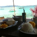 Breakfast overlooking the beach
