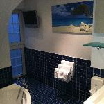 salle de bain blue océan