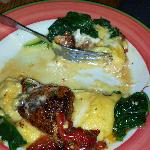 Blackened redfish and cheese grits