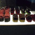zapatos de la exposición.
