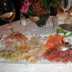 Raw fish starter to share