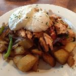 salmon hash at Georgie's was delicious