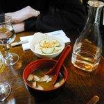 the entrée: soup and salad