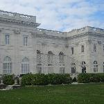 Back view of Marble house