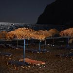 Kamari beach at night. Courtesy of my girlfriend:)