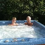 Free use of hot tub