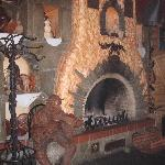 Very Pretty fireplace in the resturant