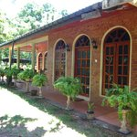 The row of rooms at Elephant Camp Guesthouse