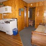 A wonderful room with a queen bed, futon couch that opens into a comfortable double bed, and a n
