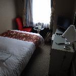 habitación pequeña pero confortable