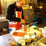 Maurizio demonstrating making Modica chocolate