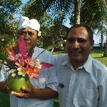 Our manager, Eberhardus and Sunanatra, the gardner and floral arranger