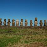 Tongariki Huge Moai Platform