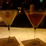 Ginger and Bopino martinis
