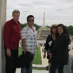 My family and I at the Lincoln Memorial