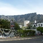 Table Mountain view from entrance/exit.