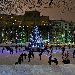 amazing winter New Year celebration