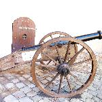 Cannon in the courtyard