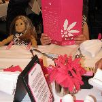A look at the table, menu and doll seat.