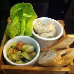 Starter (scallop ceviche & mackerel pate)
