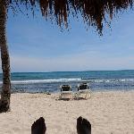 Enjoying the Beach at Mayan Palace