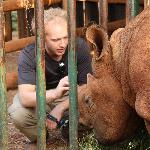 Greg and his adopted Rhino