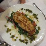 White fish baked with Almond