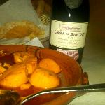 Scallops Mozambique, fresh bread, fabulous wine selection!