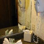 Bathroom amenities and hairdryer