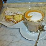 Zabaglione Cream doughnut with Latte