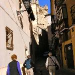 Leaving the posada to walk to the cathedral