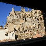 An incredible view of the side of Toledo Cathedral from the third-floor breakfast room