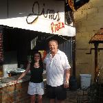 Michelle with Jim the owner