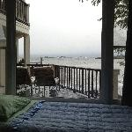 My air mattress in the bedroom...nice view :)