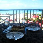 Our breakfast on the balcony