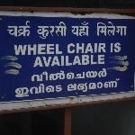 Pleasant surprise.Wheel chair available, courtesy ASI