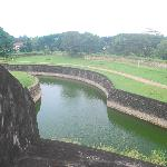 A view of the moat from the ramparts