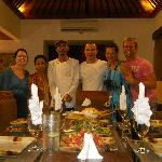 Our wonderful dinner prepared by Ketut and Kadak