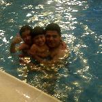 Kids at the Crowne Plaza pool