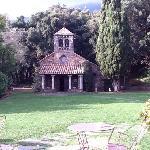 Ermita San Bernat desde la mesa de tomar té