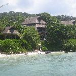 Picture of Room 8 taken from the jetty. If you walk further down the jetty, you can look into Ro
