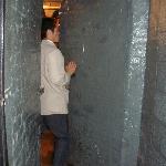 Entering the wine cellar