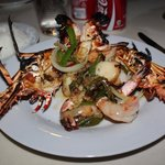Lobster & Shrimp in Garlic Suace-OH YUM!