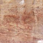 Colored Canyon, face on rock