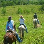 Horseback riding at the finca